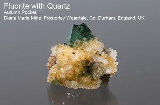 【Autumn Pocket】フローライト with クォーツ 結晶石 イングランド|オータムポケット|発光|Autumn Pocket, Diana Maria Mine|Fluorite|蛍石|