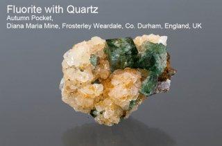 【Autumn Pocket】フローライト with クォーツ 結晶石 イングランド|オータムポケット|蛍光|Autumn Pocket, Diana Maria Mine|Fluorite|蛍石|