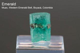 エメラルド 結晶石 コロンビア産 Muzo, Western Emerald Belt, Boyaca, Colombia 緑柱石 Emerald 2512A 