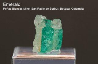 エメラルド 結晶 コロンビア産 緑柱石 Penas Blancas Mine, San Pablo de Borbur, Boyaca Colombia Emerald 2057A 