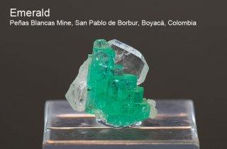 エメラルド 結晶 コロンビア産 緑柱石 Penas Blancas Mine, San Pablo de Borbur, Boyaca Colombia Emerald 2004A 