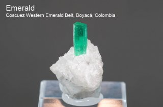 エメラルド 結晶 コロンビア産 緑柱石 Coscuez Western Emerald Belt, Boyac, Colombia Emerald 2453A 