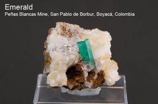 エメラルド 結晶 コロンビア産 緑柱石 Penas Blancas Mine, San Pablo de Borbur, Boyaca Colombia Emerald 2455A 