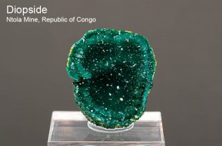 ダイオプテーズ 結晶石 コンゴ共和国 産|Ntola Mine, Republic of Congo|Diopside|翠銅鉱|