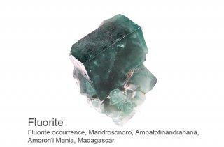 フローライト 結晶石 マダガスカル産|UVライトで蛍光|Amoron'i Mania, Madagascar|蛍石|