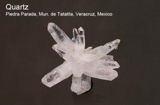 水晶 結晶石 メキシコ産|ベラクルス|Quartz|Piedra Parada, Mun. de Tatatila, Veracruz, Mexico|水晶|