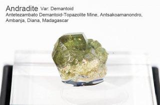 アンドラライト 結晶石 マダガスカル産 Var: Demantoid  Antetezambato  Madagascar Andradite  