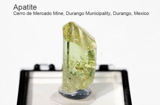 アパタイト 結晶 メキシコ産 Cerro de Mercado Mine, Durango Municipality, Durango, Mexico Apatite 燐灰石 