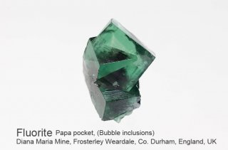 【Bubble inclusions】フローライト 結晶石 イングランド産|水入り|ダイアナマリア|発光|Papa Pocket, Diana Maria Mine UK|蛍石|