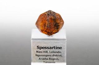 スペッサルティン 結晶 タンザニア産 Spessartine Nani Hill, Loliondo, Tanzania 満礬柘榴石 