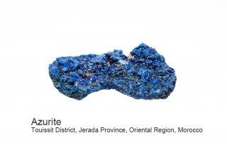 アズライト 結晶 モロッコ産|Azurite|Touissit District, Jerada Province, Oriental Region, Morocco|藍銅鉱|