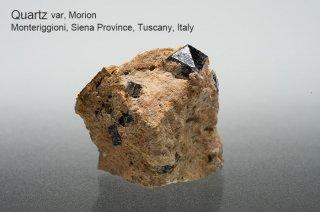 水晶 結晶 イタリア産|var, Morion|黒水晶|Monteriggioni, Siena Province, Tuscany, Italy|Quarz|