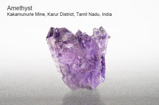 アメジスト 結晶 インド産|Kakamunurle Mine, Karur District, Tamil Nadu, India|Amethyst|紫水晶|