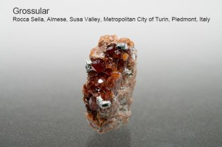 グロッシュラーガーネット 結晶 イタリア産|Rocca Sella, Almese, Susa Valley, Italy|灰礬柘榴石|Grossular|