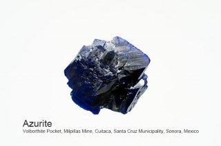 アズライト 結晶 メキシコ産|Azurite|Milpillas Mine, Cuitaca, Santa Cruz Municipality, Sonora, Mexico|藍銅鉱|