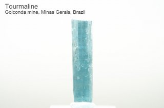 【インディゴライト】トルマリン 結晶 ブラジル産|ゴウコンダ産|リシア電気石|Golconda mine, Minas Gerais, Brazil|tourmaline|