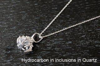 【結晶ペンダント】オリジナルペンダント ver, オイル入り水晶 パキスタン産|SV925|龍爪ペンダント|5本爪|水晶|Hydrocarbon in inclusions in Quartz|