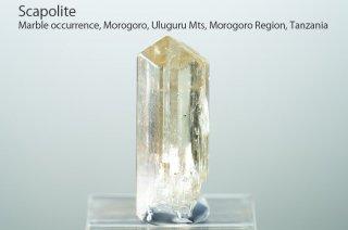 スキャポライト  結晶石 タンザニア産|Marble occurrence, Morogoro, Uluguru Mts, Morogoro, Tanzania|Scapolite|柱石|