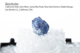 【サムネイル標本】ベニトアイト 結晶 カリフォルニア産|California State Gem Mine, California, USA|Benitoite|
