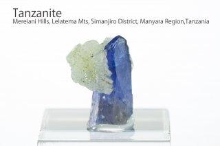 タンザナイト 結晶石 タンザニア産|プレナイト付き|ゾイサイト|灰簾石|Mereiani Hills, Lelatema Mts, Tanzania|Tanzanite|