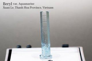 アクアマリン 結晶 ベトナム産 非加熱 Xuan Le, Thanh Hoa Province, Vietnam Aquamarine Beryl 緑柱石 