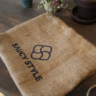 SAUCY STYLE オリジナル麻袋( S、M、L)
