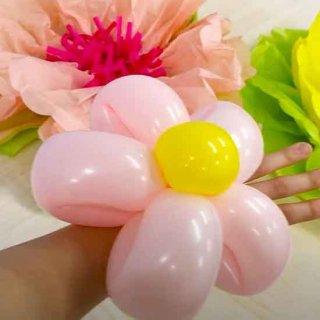 【簡単バルーンアート】お花ブレスレット