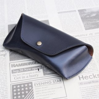 DIFFUSER  BRIDLE LEATHER EYEWEAR CASE / Navy & Brown