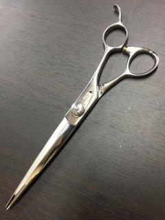 【美品】柳生 レオックスシザー 7インチ 片剣刃 オフセットハンドル
