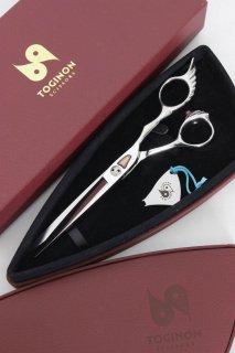 【美品】刃物屋トギノン fuma セリーヌ 6.0 6インチ カットシザー ハマグリ刃 3Dハンドル