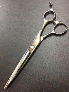 【研磨済】光シザー H・�a 6.5インチ ハマグリ刃 オフセットハンドル カットシザー