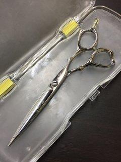 【美品】光シザー BEAM COSMOS 162 6インチ ハマグリ刃 3Dハンドル カットシザー