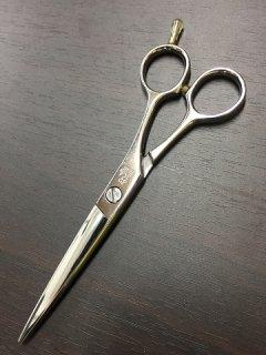 【美品】光シザー E-6 6インチ カットシザー ハマグリ刃 メガネハンドル ヒカリ