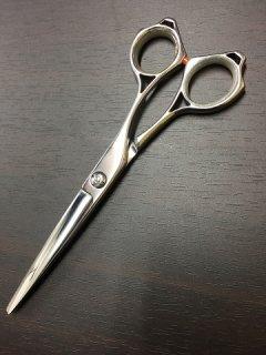 【美品/研磨済】マテリ 6インチ カットシザー ハマグリ刃 メガネハンドル