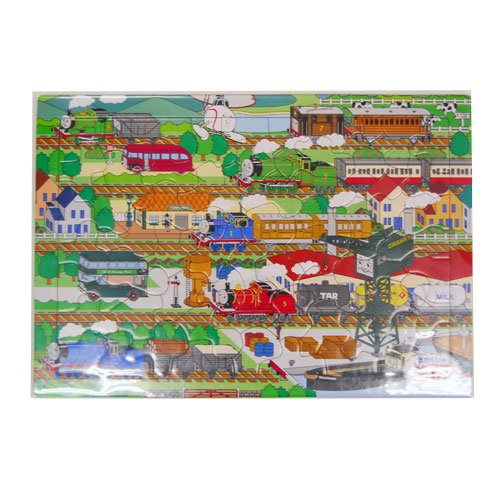 【63ピース】ピクチュアパズル せんろであそぼう! 26-611 TO