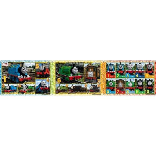 【8+12+16ピース】ステップパノラマパズル(きかんしゃトーマス トーマスとみんなのばんごう)24-108 TO