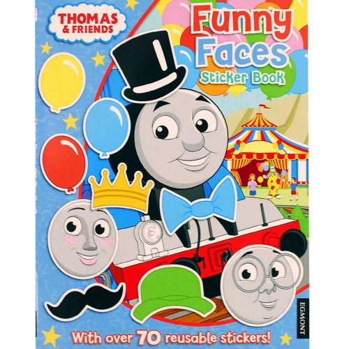 【英語のえほん】Thomas The Tank Engine  Funny Faces Sticker Book  TO