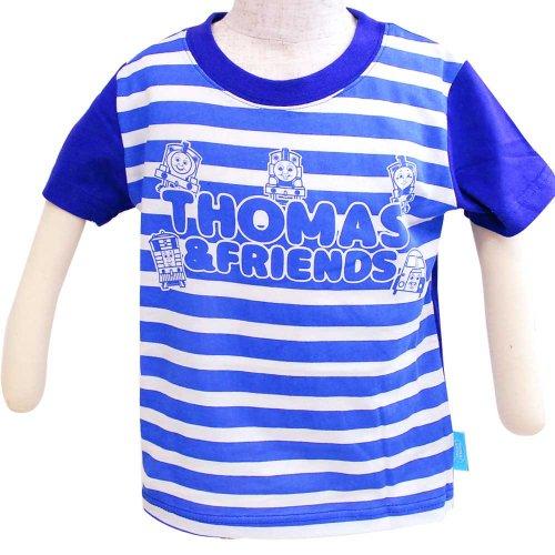袖切替Tシャツ(ブルー)100 742TM0021 TO