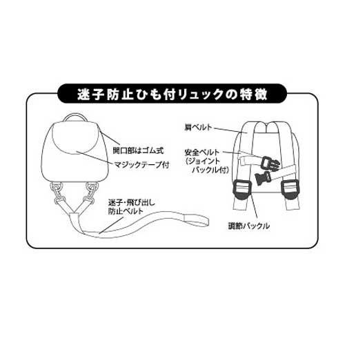 ピングー 【生産終了品】迷子ひも付ミニリュック(風船)