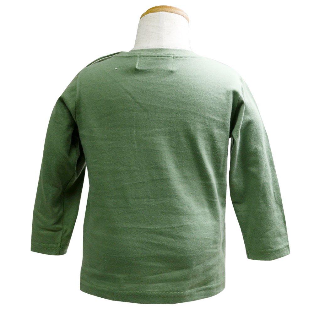 ピングー 長袖Tシャツ(モスグリーン)90 041TM4011 TO