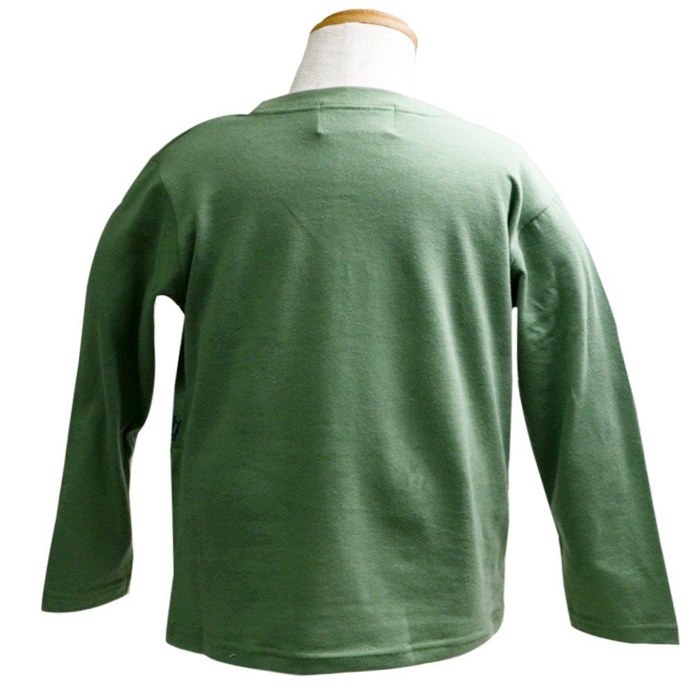 ピングー <img class='new_mark_img1' src='https://img.shop-pro.jp/img/new/icons11.gif' style='border:none;display:inline;margin:0px;padding:0px;width:auto;' />長袖Tシャツ(モスグリーン)100 041TM4011 TO