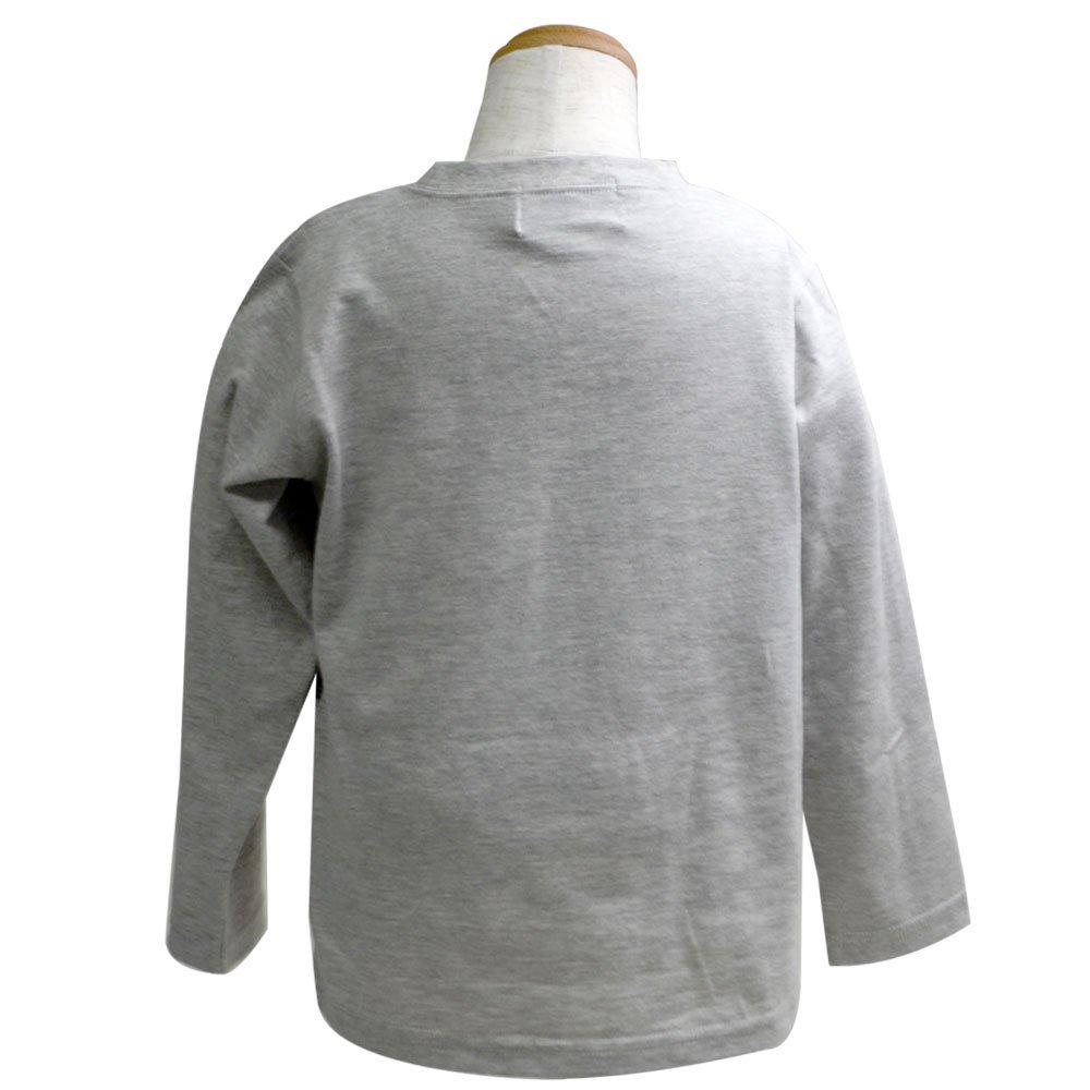 ピングー <img class='new_mark_img1' src='https://img.shop-pro.jp/img/new/icons11.gif' style='border:none;display:inline;margin:0px;padding:0px;width:auto;' />長袖Tシャツ(グレー杢)100 041TM4011 TO