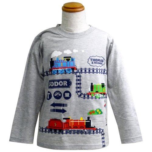 長袖Tシャツ(グレー杢)120 041TM4011 TO