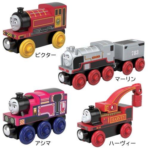 【木製レール限定セット】「楽しくてユーモアのある機関車」4点セット  TO