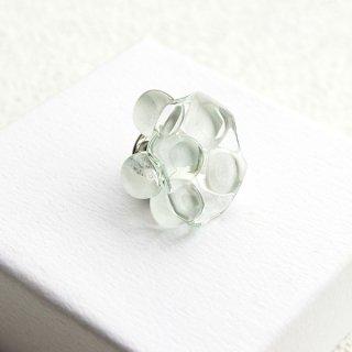 お花シリーズ・ガラスラペルピン/ピンブローチ「WHITE FLOWERS」|箱付