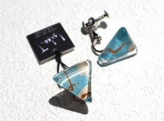 1点ものガラスイヤリング|シーメモリーズSea Memories|箱付