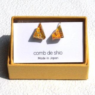 伊勢志摩シリーズ・1点ものガラスイヤリング「花/Flower」|箱付
