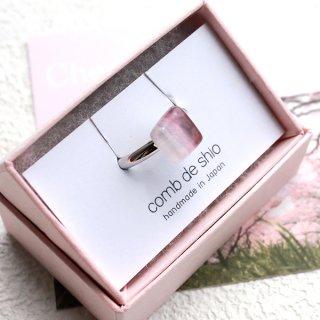 伊勢志摩シリーズ・1点ものガラスリング「桜/Cherry Blossom」|箱付