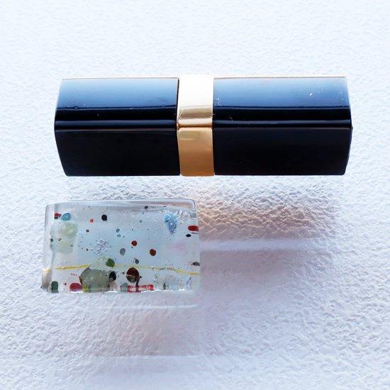 1点ものガラスのシルバーチョーカー(太Uタイプ)|白い絵本|箱付