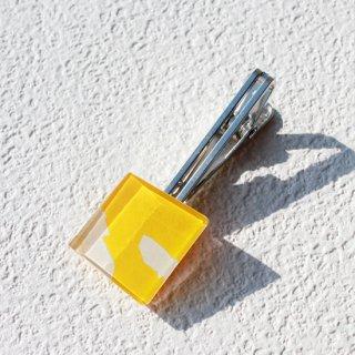 ペインティングシリーズ・1点ものガラスのネクタイピン/タイプリップ「月」|箱付